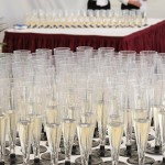 Champagne Reception in Marquee